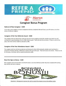 Refer A Friend- Caregiver Bonus Program